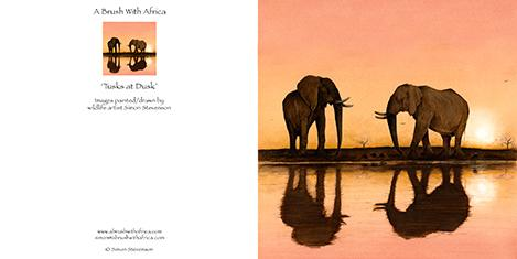 Tusks at Dusk card