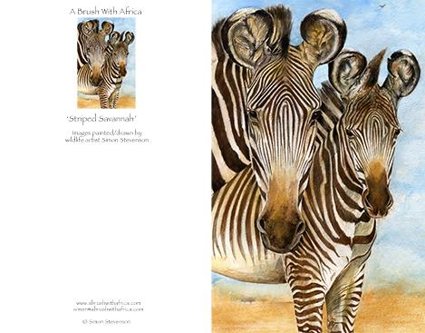 Striped Savannah card